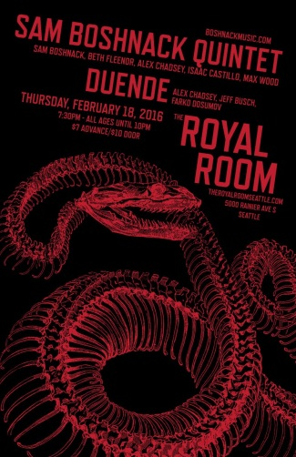 Sam Boshnack Quintet and Duende at Royal Room